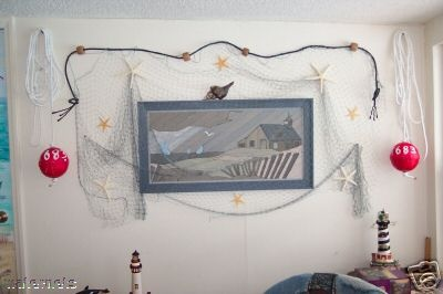 10 best images about fish nets on pinterest starfish for Fish netting decor