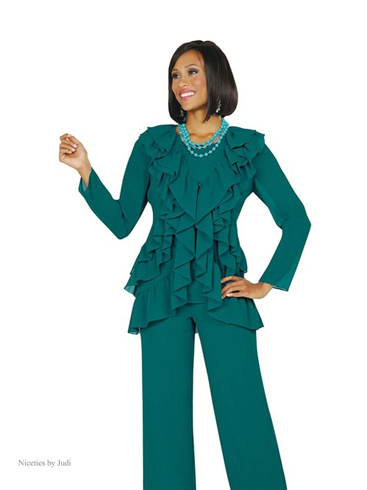 Misty Lane 13489 Teal Green 3 Pc Cocktail Evening Pant Suit Outfit | Classic Womenu0026#39;s Fashion ...