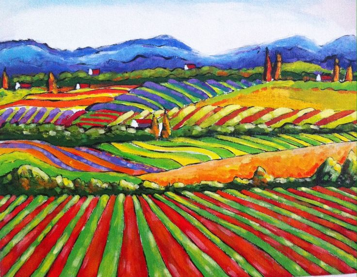 """""""QUILTED LANDSCAPE 07"""" by LOUISE GROVE WIECHERS. Paintings for Sale. Bluethumb - Online Art Gallery"""