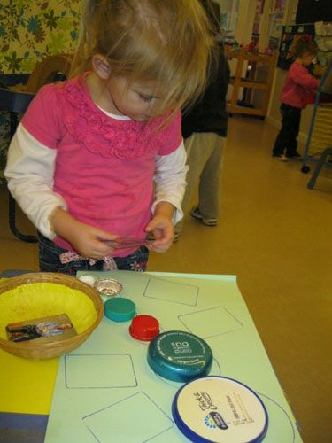 Irresistible Ideas for play based learning -- matching game