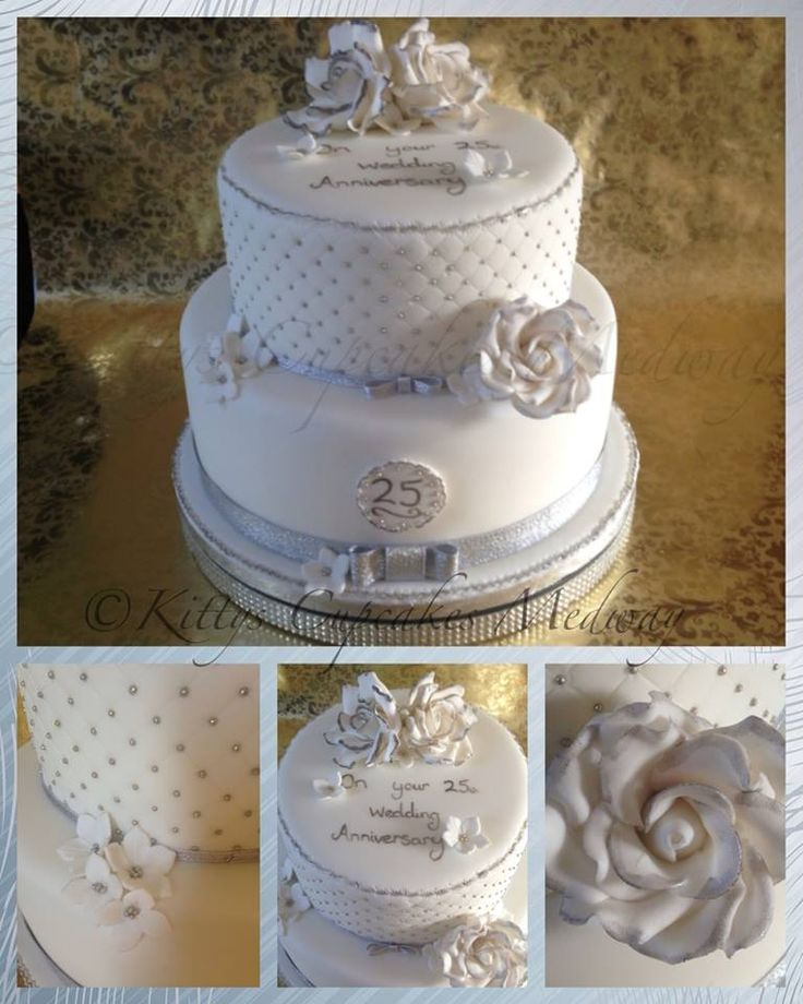2 tier wedding cakes silver 21 best images about 25th wedding anniersary on 10169