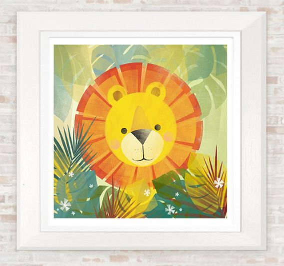 Lovely Lion by Gareth Llewhellin available at GsdoodlesByZoe on Etsy