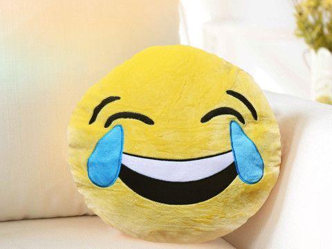 Coussin Emoji Rire