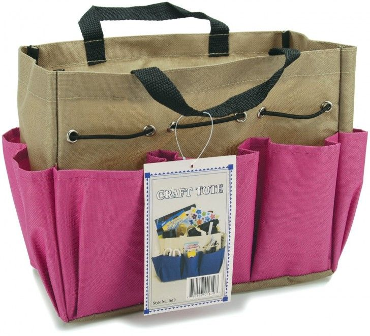 Allary Project Tote 9-1/2 Inch by 8-1/2 Inch by 5 Inch - Perfect for crocheters and knitters!