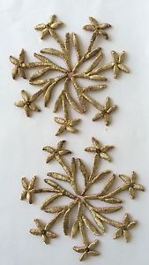 14 Flowers in Gold ready to be sewn unto something, that never will be washed! (Pharyah)