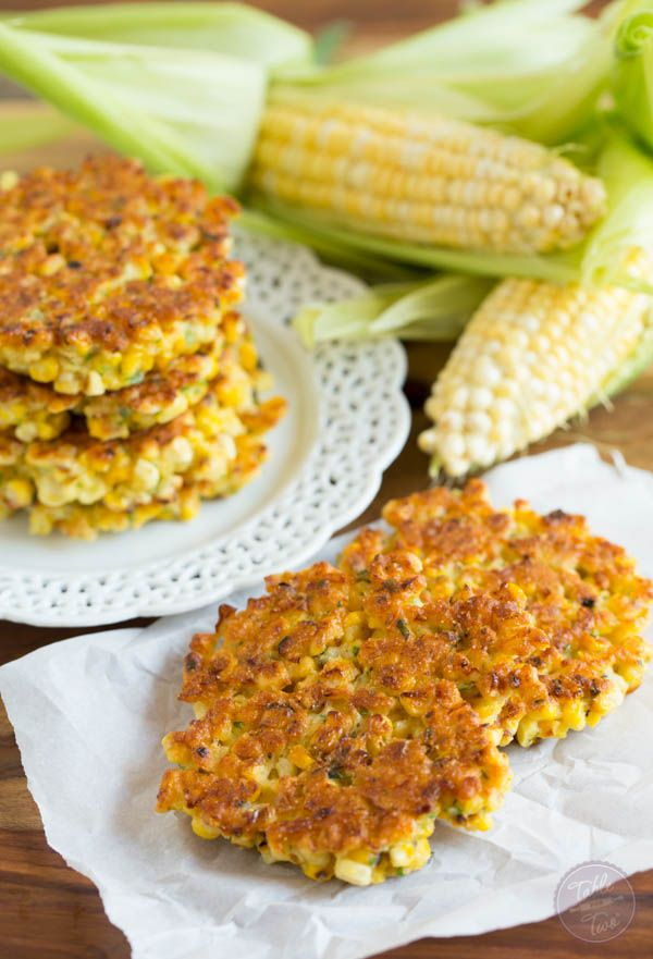 Instead of the basic corn on the cob, grill a batch of corn fritters for a hearty side dish. Get the recipe from Table for Two.   - Delish.com