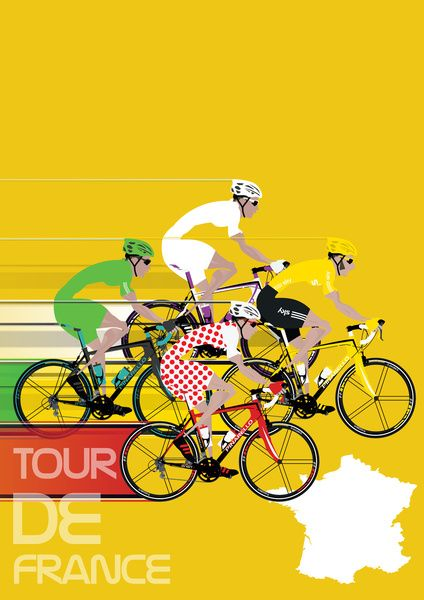 Tour De France Art Print Another peach from the guys at Wyatt. MAKETRAX.net - Bicycle Posters