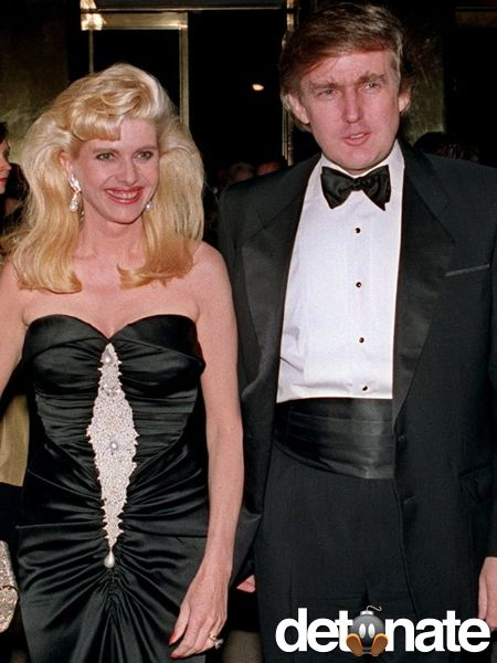 Donald Trump and his first wife, Ivana Trump (nee Zelníčková). Ivana and Donald would go on to have one of the most publicized divorces in history.