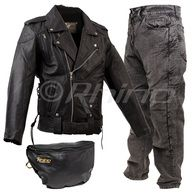 Brando Jacket with Vents, Kevlar Jeans and Pouch