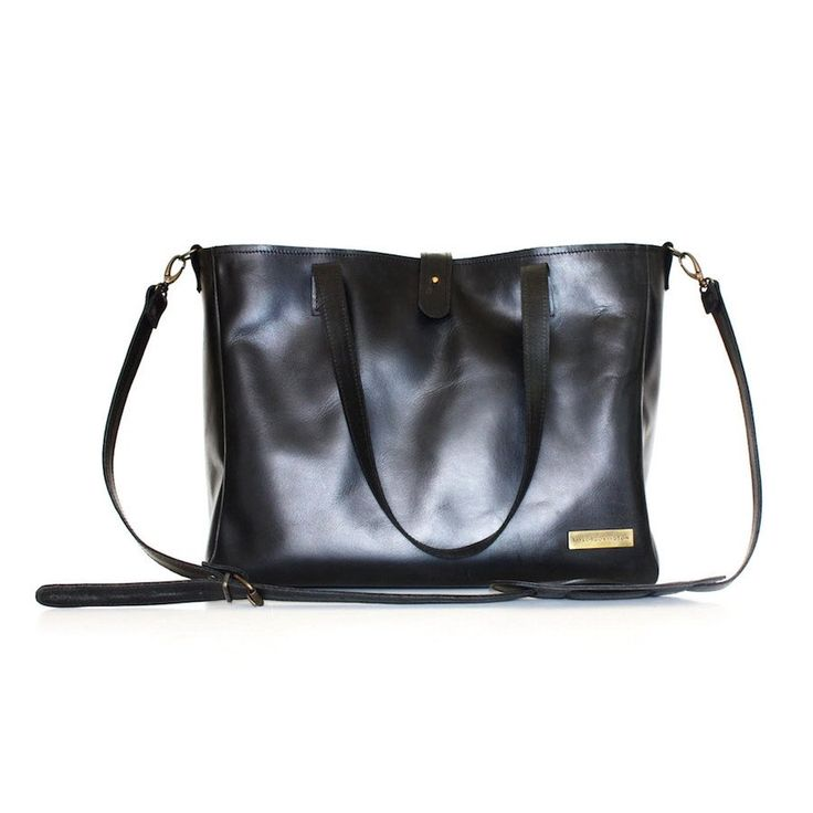 Buffalo Leather Diaper Bag- Black - Bags - Baby Belle - 1