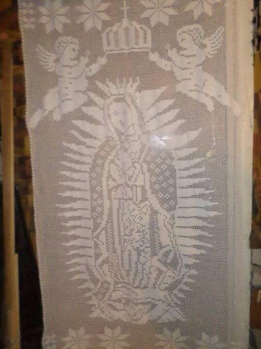 Filet on Pinterest | Virgen De Guadalupe, Samosas and Punto Cruz