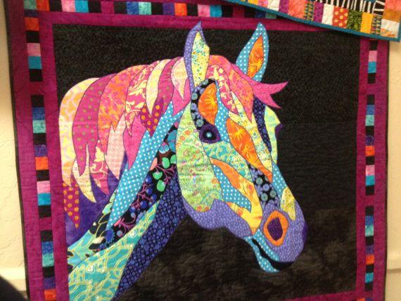 SALE Dakota BJ Designs Horse Quilt Pattern by PincushionParty