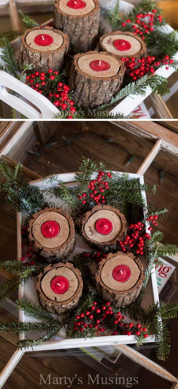 25 DIY Rustic Christmas Decoration Ideas & Tutorials