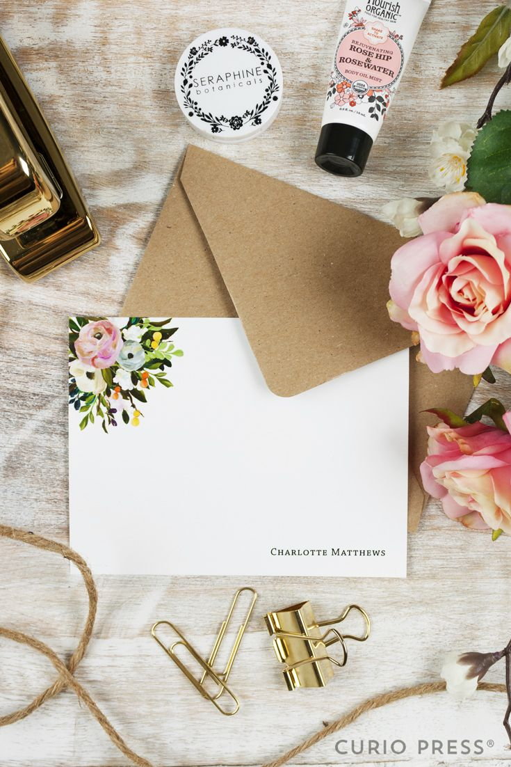 Stationary note card set in Amelia Floral pattern. Click through to see more.