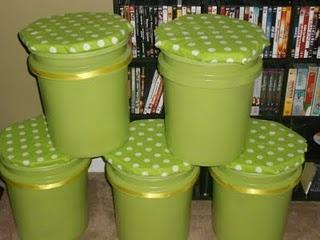 Paint bucket stools