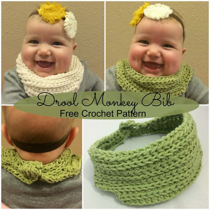 Is it a bib? Is it a scarf? It's both! The Drool Monkey Bib is a bib designed to look like a scarf so your little one stays dry and stylish ;) Free crochet pattern.~k8~