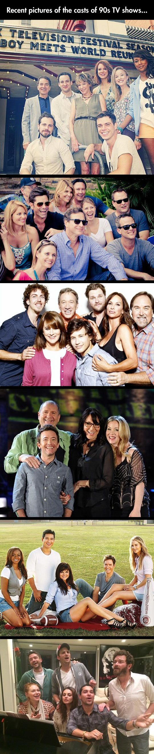 Recent pics of the cast of 90's tv shows. I LOVE THIS.