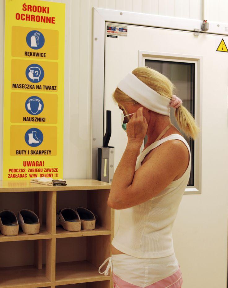 Przygotowanie do zabiegu krioterapii. #krioterapia, #cold, #health #cryotherapy