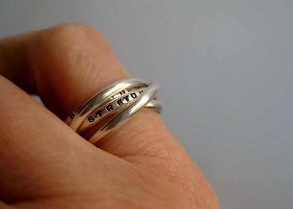 Quintuple 5 Interlocking Personalized Ring  by boutonrougedesigns, $95.00