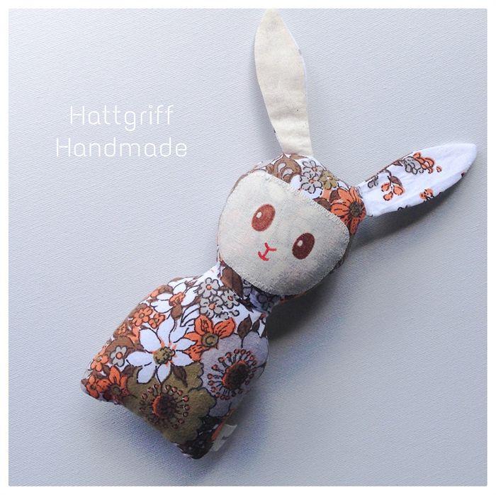 READY TO SHIP Retro Floral Baby Bunny