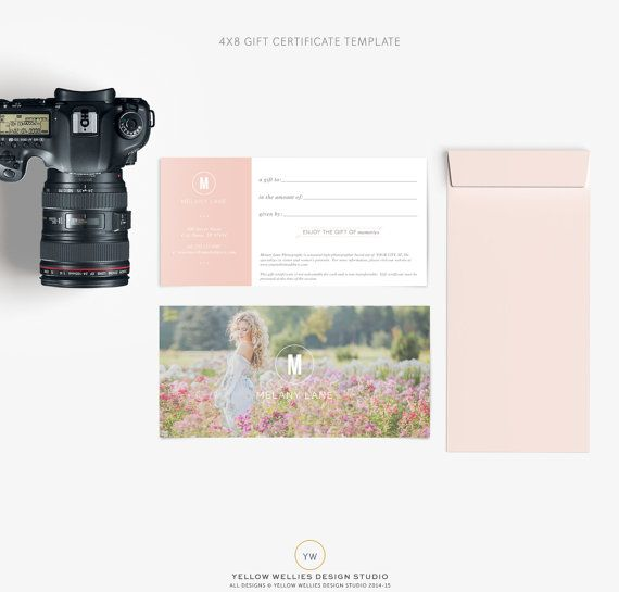 """""""high end boutique"""" photography gift certificate"""
