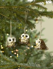 Owl Ornaments, Set of 3