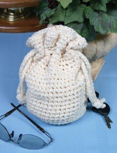 Free Crochet Drawstring Bag Patterns   Free Crochet Drawstring Bag Pattern. / crochet ideas and tips ...