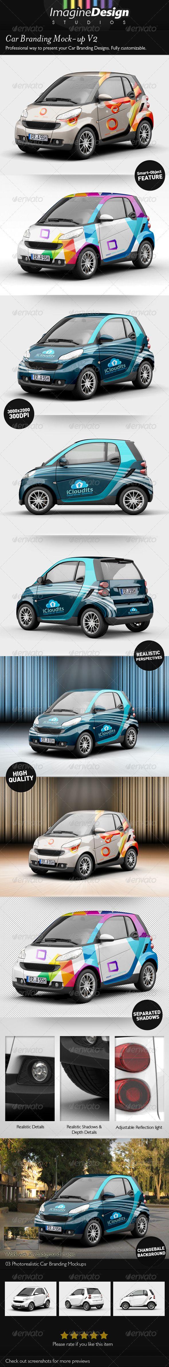 Car Branding Mock Up V2 Branding Mockup Vehicle Signage