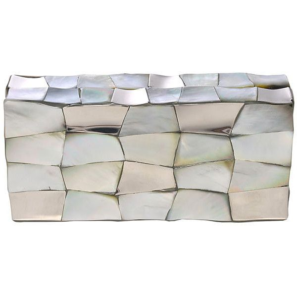 Blake Clutch Silver Clutches & Evening Bags (10 250 UAH) ❤ liked on Polyvore featuring bags, handbags, clutches, silver, silver purse, silver evening bag, silver clutches, evening hand bags and evening handbags