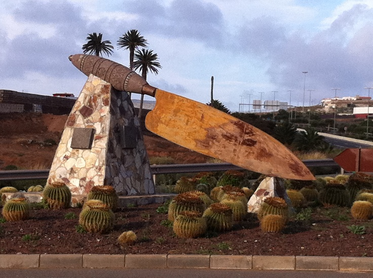 Un cuchillo canario en Guía de Gran Canaria!