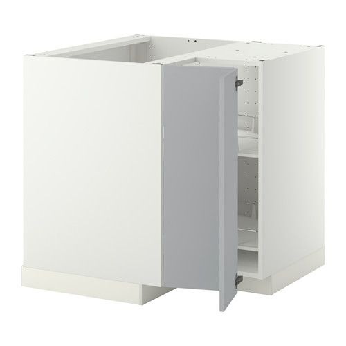 IKEA METOD Corner Base Cabinet With Carousel Sturdy Frame Construction, 18  Mm Thick.