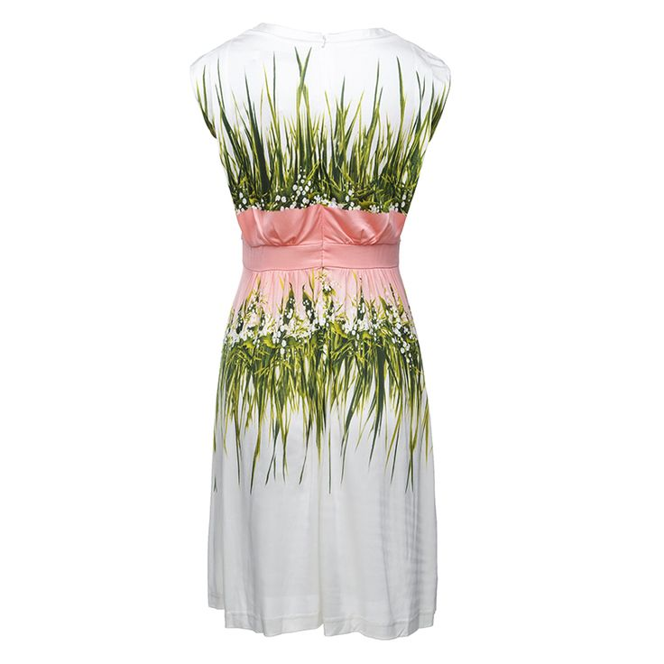 MYTENO / zi sclavie doamnelor autentic 2015 nou gât rundă rochie imprimare MCY3073005 - Zuru air Services