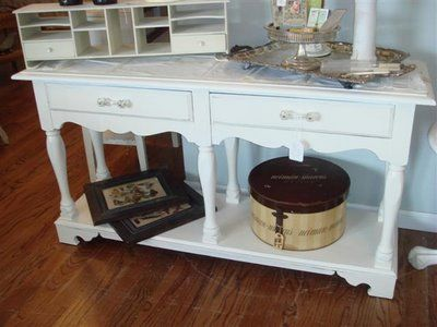 Red Shed Antiques, Grapevine Texas: Before U0026 After Furniture.taking Trash  To Treasure With Some Chippy White Paint