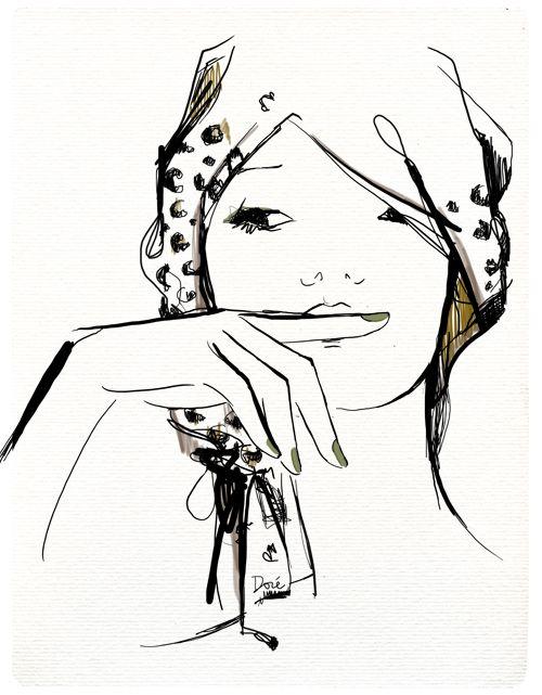 garancedore: Sketch, Fashion Design, Garance Doré, Art, Drawing, Fashion Illustrations
