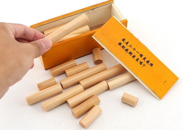 21 inspiration rod adult wooden puzzle toys disassembly and unlocking Kong Ming lock Luban lock