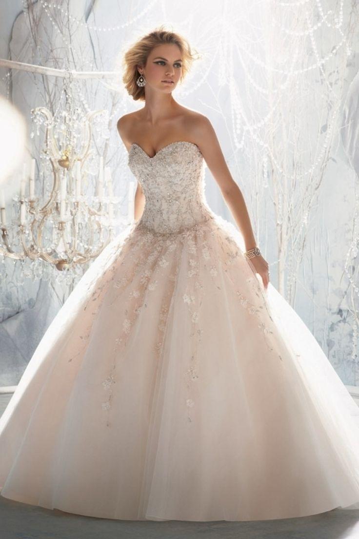 2013 Wedding Dresses Ball Gown Sweetheart Court Train Organza With Appliqu USD 259.99 LDPKADMFY3 - LovingDresses.com