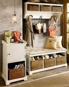 Baskets are a great way to hide and organize items! #organization