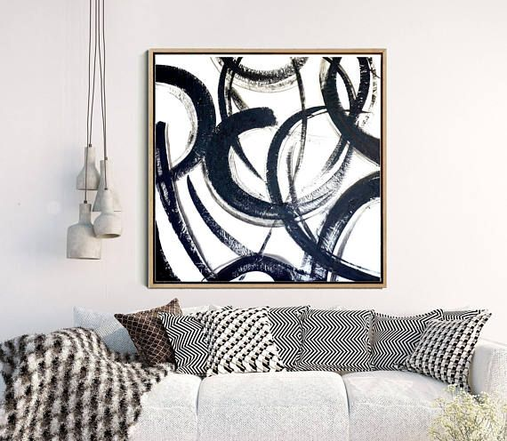 Black And White Art, Abstract Art, Large Wall Art, Abstract Print, Monochrome Art Print, Home Decor, Wall Decor, Digital Download
