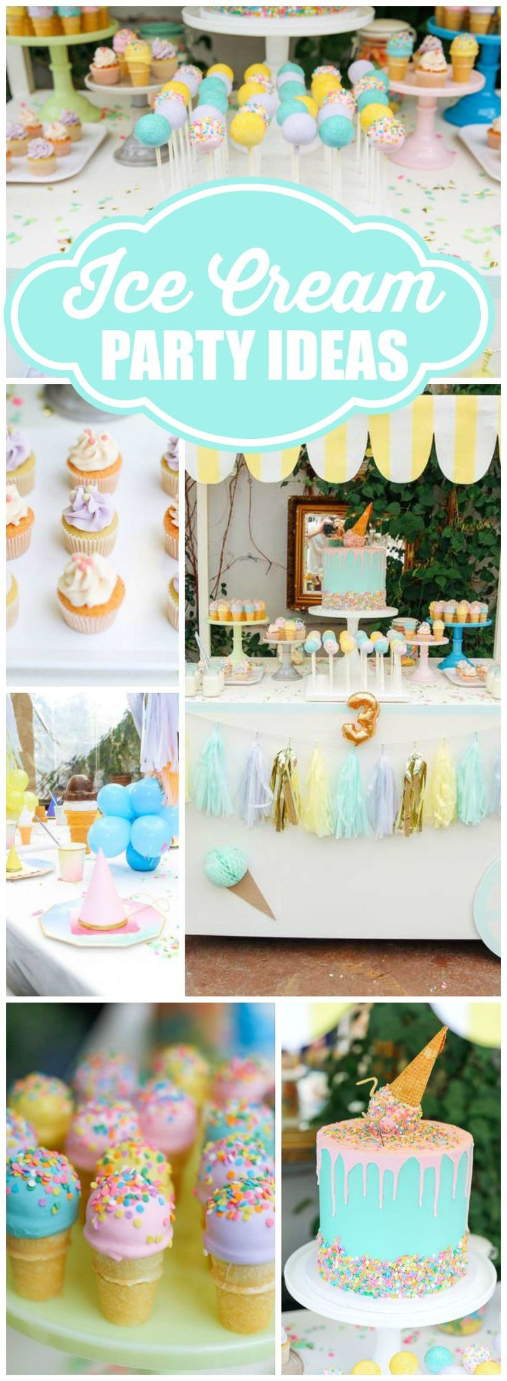 So many amazing details at this ice cream birthday party! See more party ideas at CatchMyParty.com!
