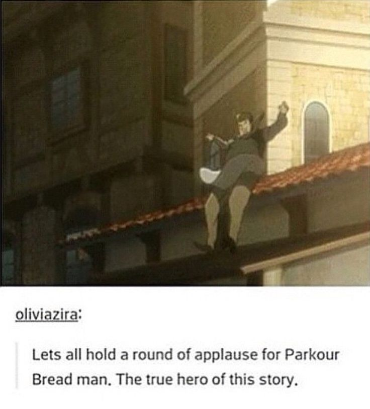 ((LET'S DO THE MILLIUS ZERMUSKY THING ALL OVER AGAIN FOR PARKOUR BREAD MAN)) --- pardon what?