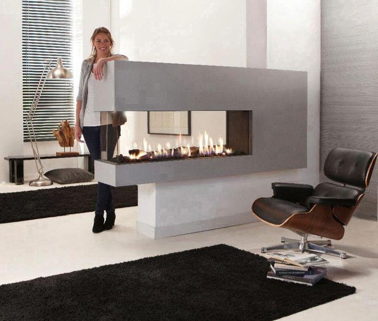Two Sided Fireplace, 2 Sided Fireplace, Double Sided Fireplace Ideas, Peninsula…