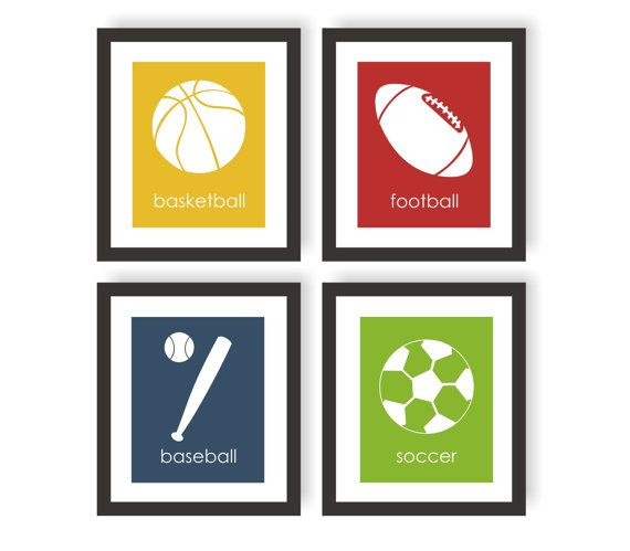 Hey, I found this really awesome Etsy listing at https://www.etsy.com/listing/117469188/sports-nursery-art-set-of-4-sport