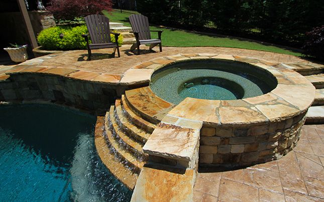 52 best au natural outdoor bathtubs and showers images for Above ground pool waterfall ideas