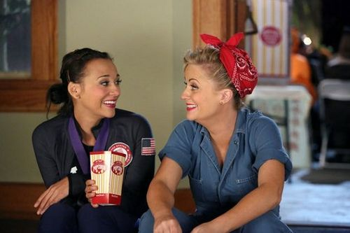 Feminist Halloween costume idea: Amy Poehler/Leslie Knope/Rosie the Riveter.