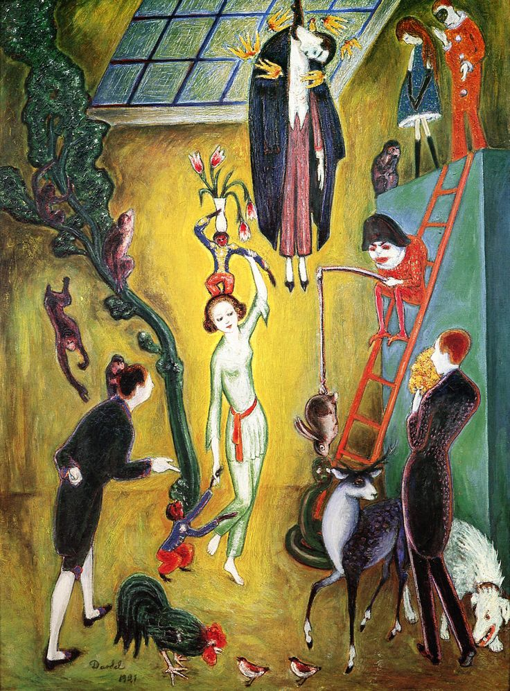 The Athenaeum - Visit of the Eccentric Lady (Nils Dardel - )