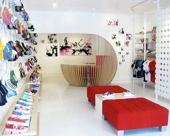 Store Design Ideas compact mens clothing store makes a big statement Shoe Store Interior Design Ideasjpg 550 440 Pixels Composite Pinterest Architecture Shoe Store Design And Store Design