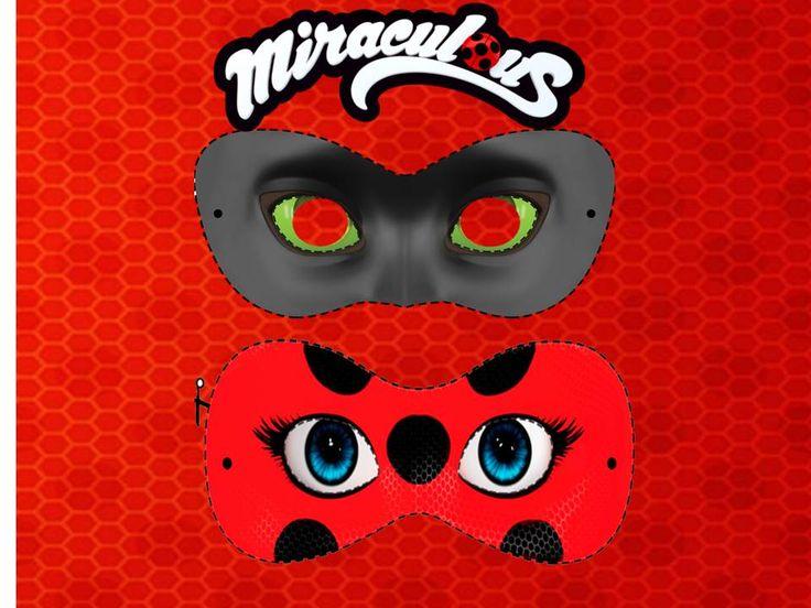 Resultado de imagem para molde da mascara da ladybug