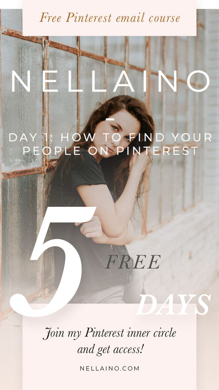 It's free and full of Pinterest tips! Learn how to get your first client by using Pinterest! Visit www.nellaino.com for more advanced Pinterest services. #pinterestmarketing #freeemailcourse #freecourse #socialmediamarketing #pintereststrategist