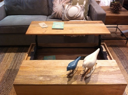 Interesting coffee table with lift up end and storage for Coffee tables under 30