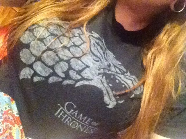 New Game of Thrones shirt, compliments of Gabriel.  #GoT #Geekery #GraphicTees #Stark